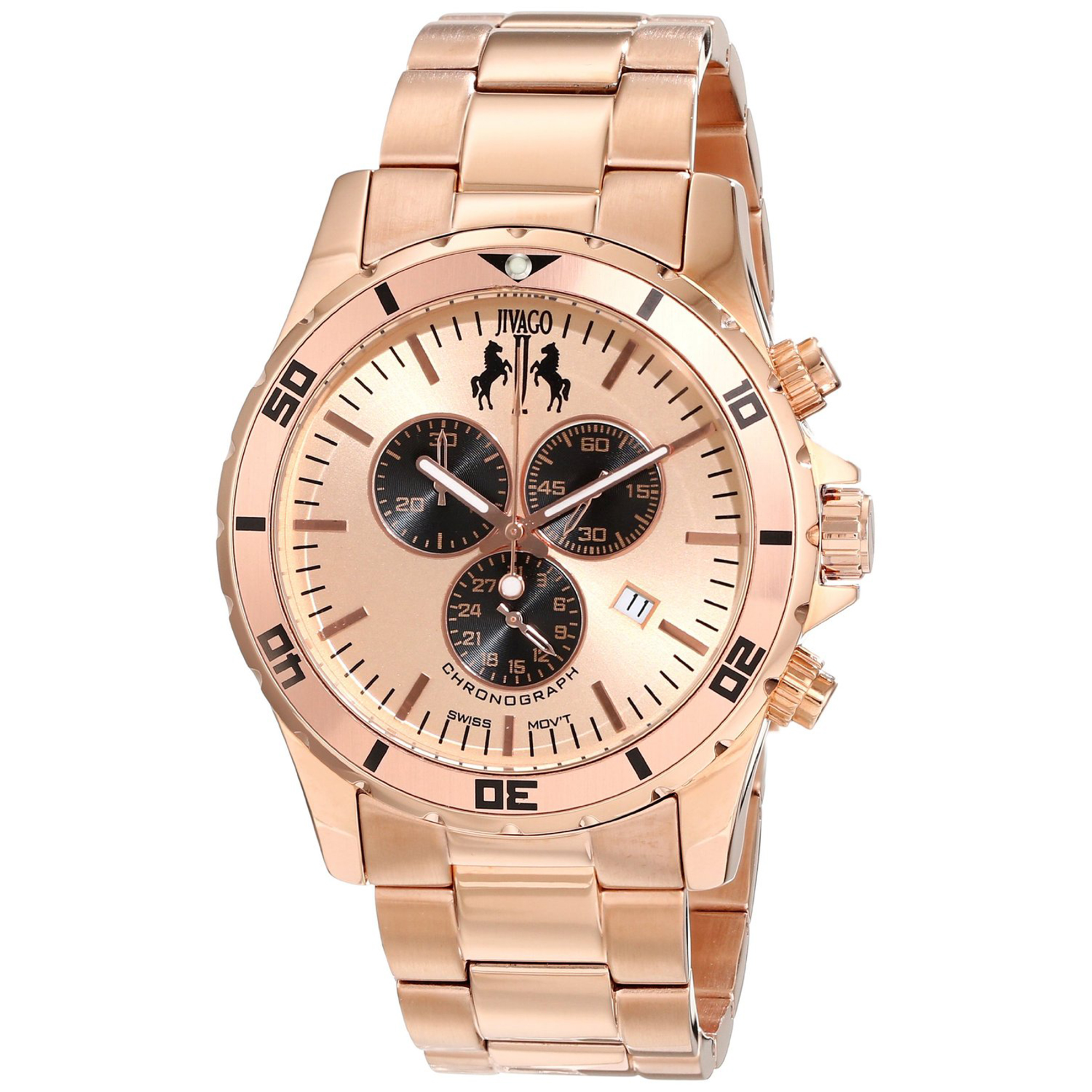 Jivago JV6123 Jivago Men's Ultimate Diver Swiss Chronograph Rose Gold