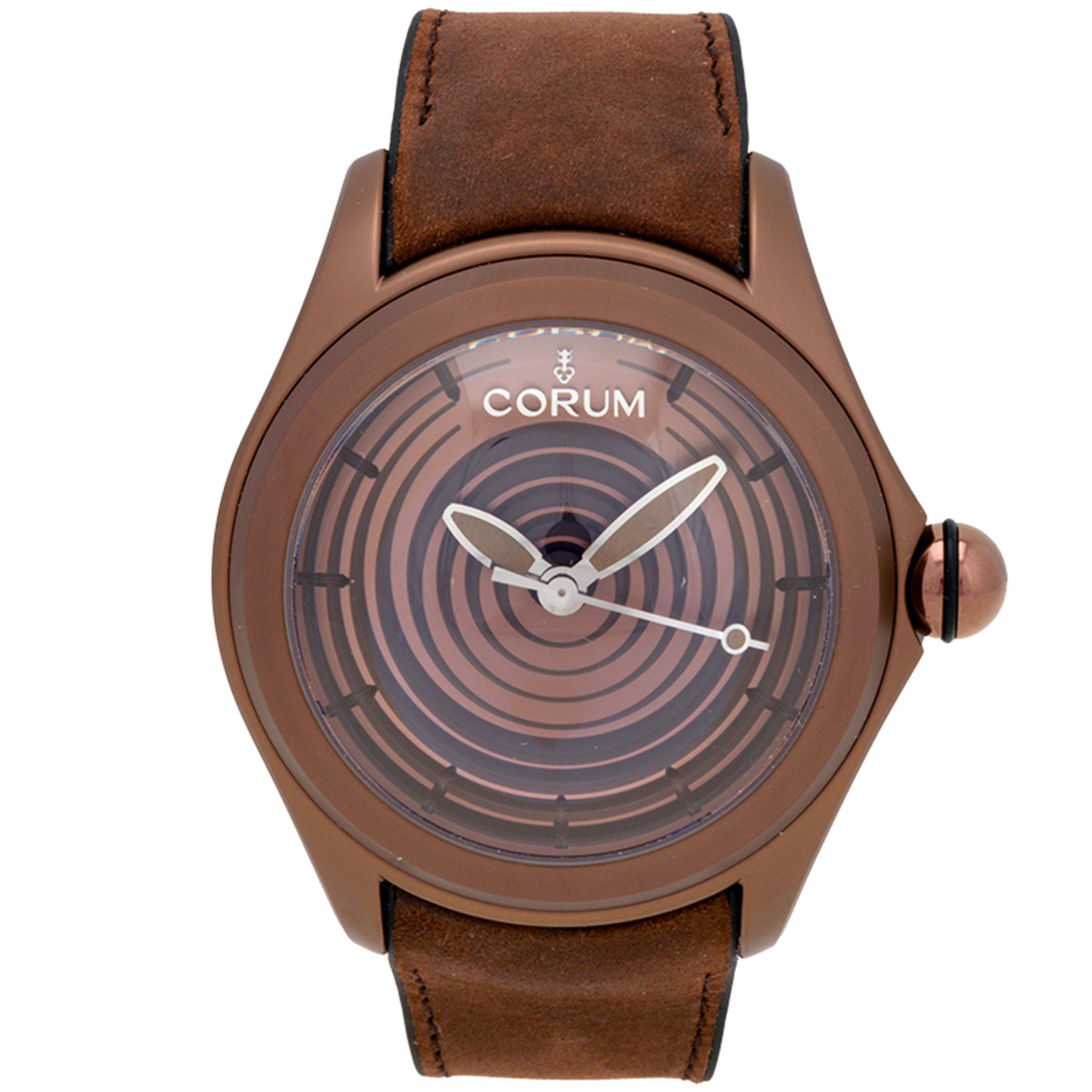 Corum 082.311.98/0062 Corum Bubble Limited Edition Automatic Brown IP Leather Strap