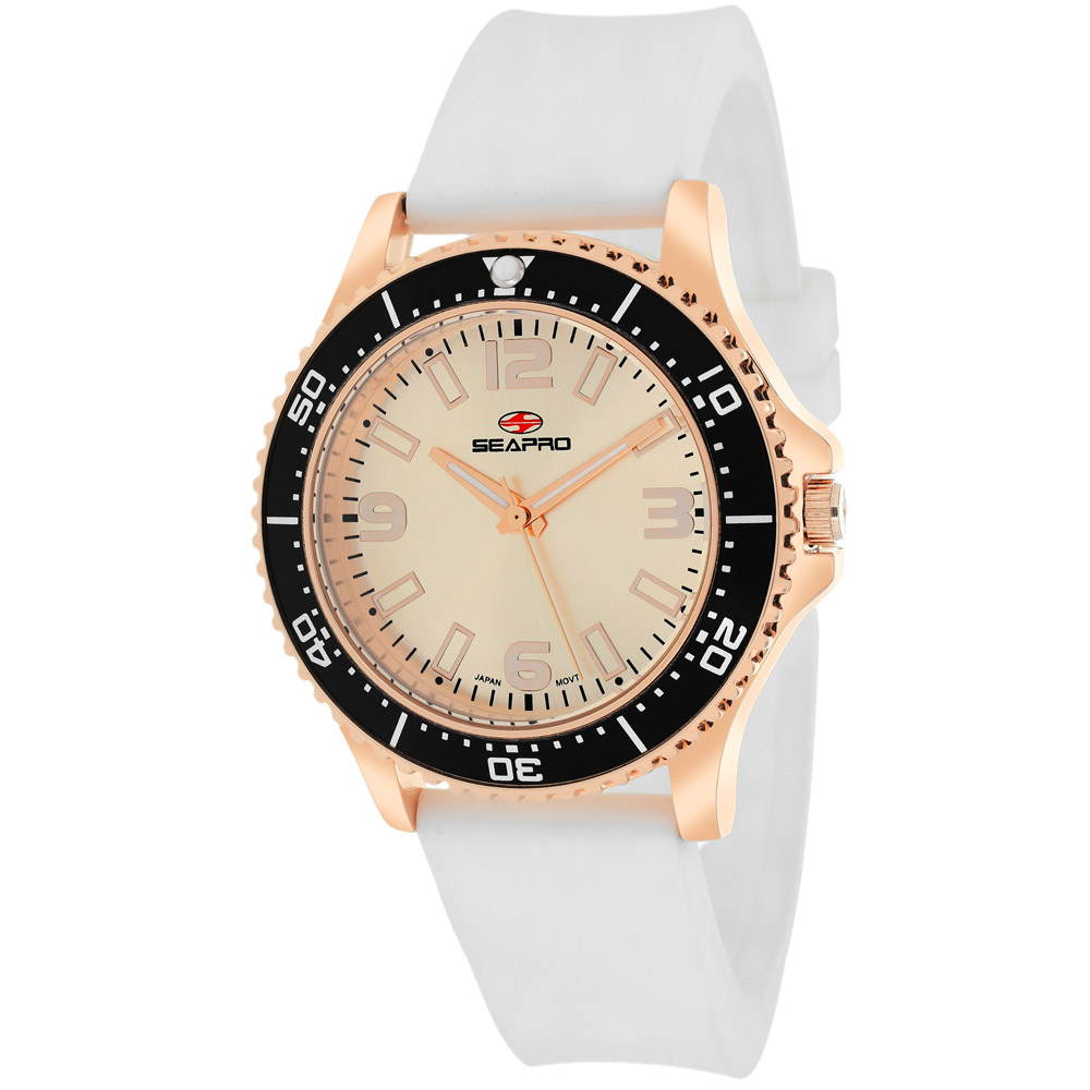 SP5418 Seapro Womens Tideway White Band Rose gold Dial