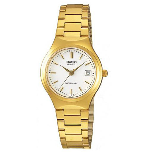 LTP-1170N-7A Casio Womens Classic Gold tone Band White Dial