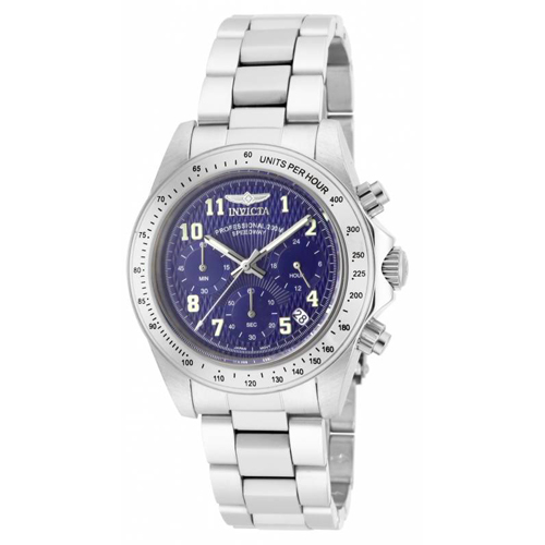 17024 Invicta Mens Speedway  Steel Band Blue Dial