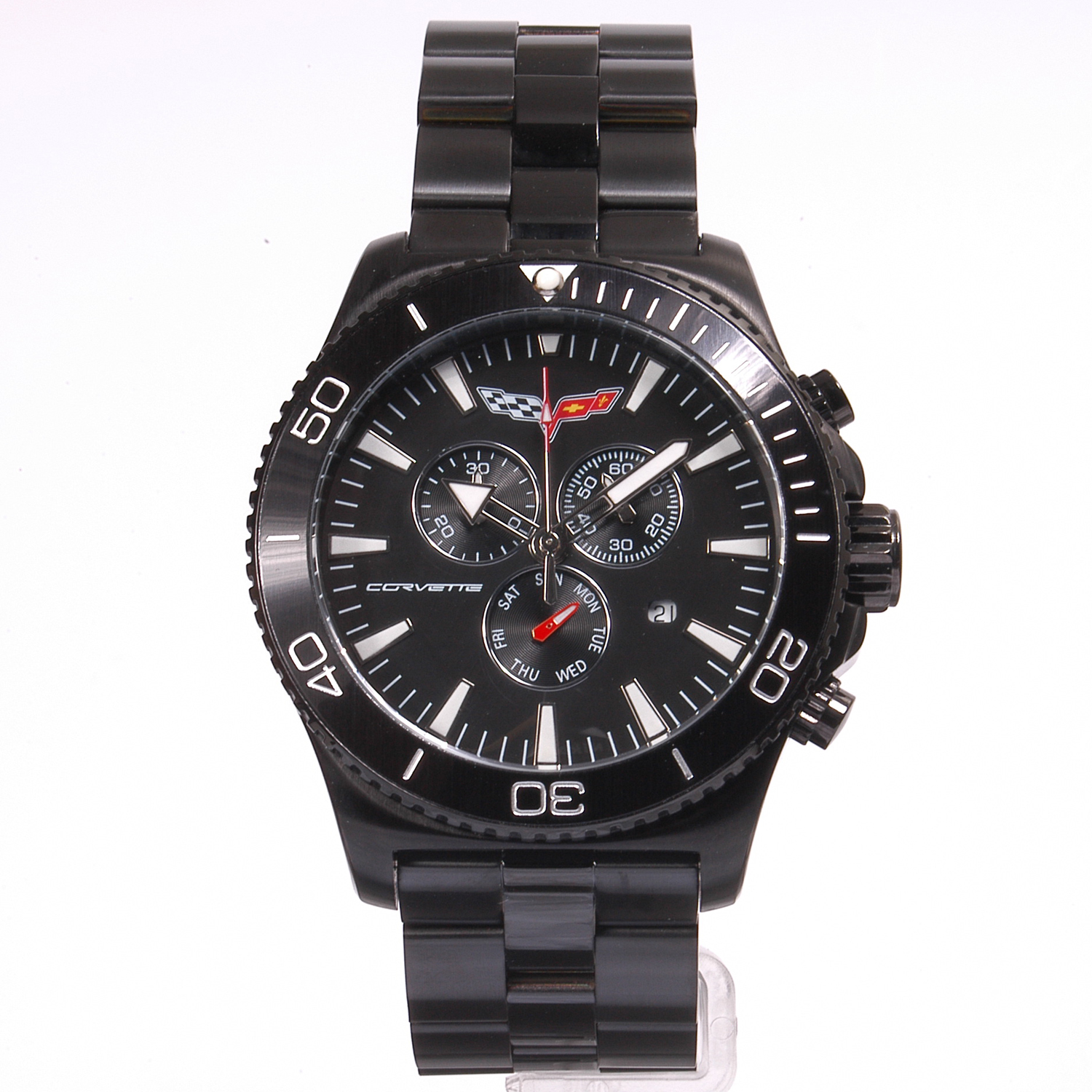 AKCR215-MIPB Corvette 215 Swiss Chrono Collection IP Black Dial