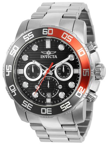 22230 Invicta Mens Pro Diver  Steel Band Charcoal Dial