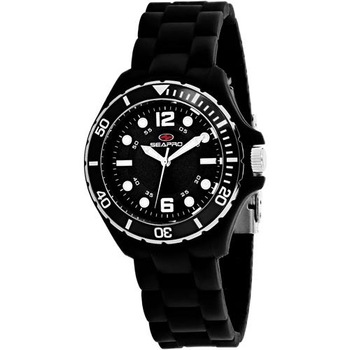 SP3219 Seapro Womens Spring Black Band Black Dial