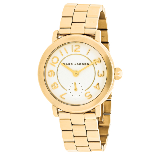 MJ3470 Marc Jacobs Womens Riley Gold tone Band White Dial
