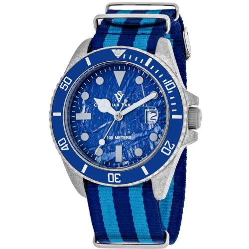 CV5103NBLB Christian Van Sant Mens Montego Vintage Quartz Blue and light blue Band Blue Dial