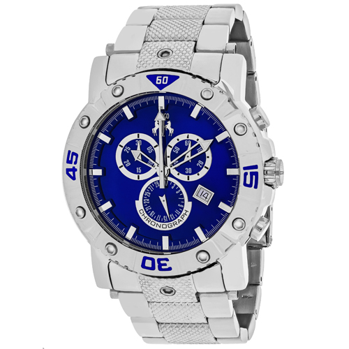 JV9125XL Jivago Mens Titan Silver Band Blue Dial