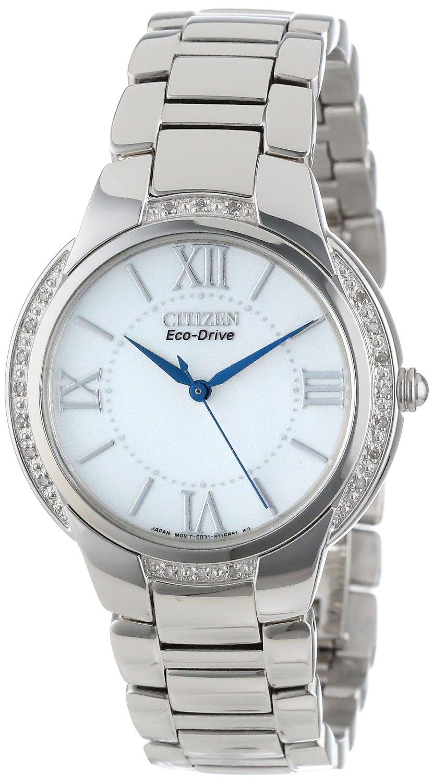 Citizen-EM0090-57A Citizen Eco-Drive Ciena 20 Diamond Stainless Steel Watch