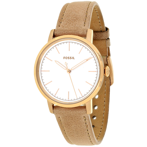 ES4185 Fossil Womens Neely Brown Band White Dial