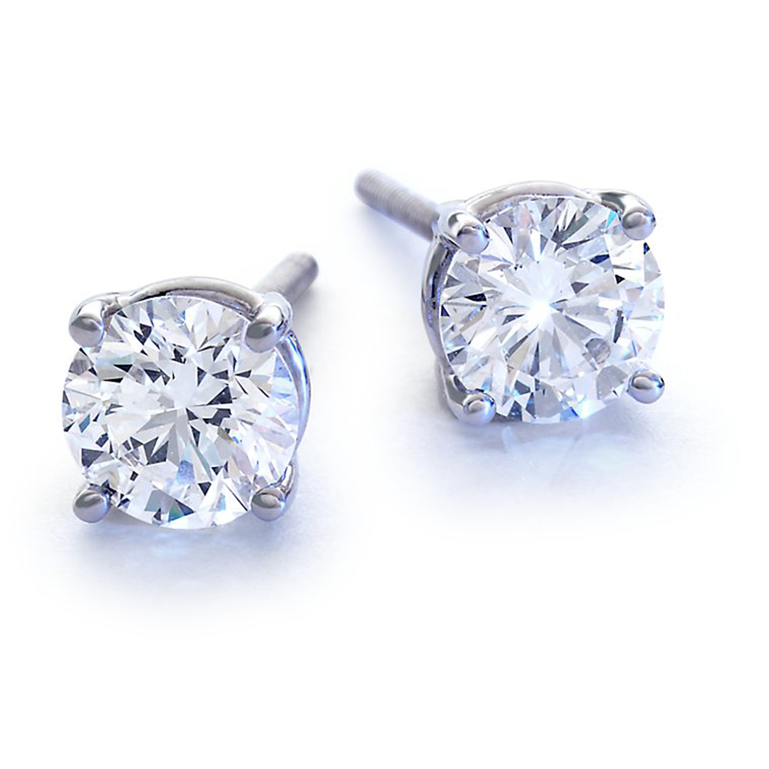 STUDA19548031413 1.05  Carat  - SI2 -  G Color  Diamond Studs  w Certificate White Gold