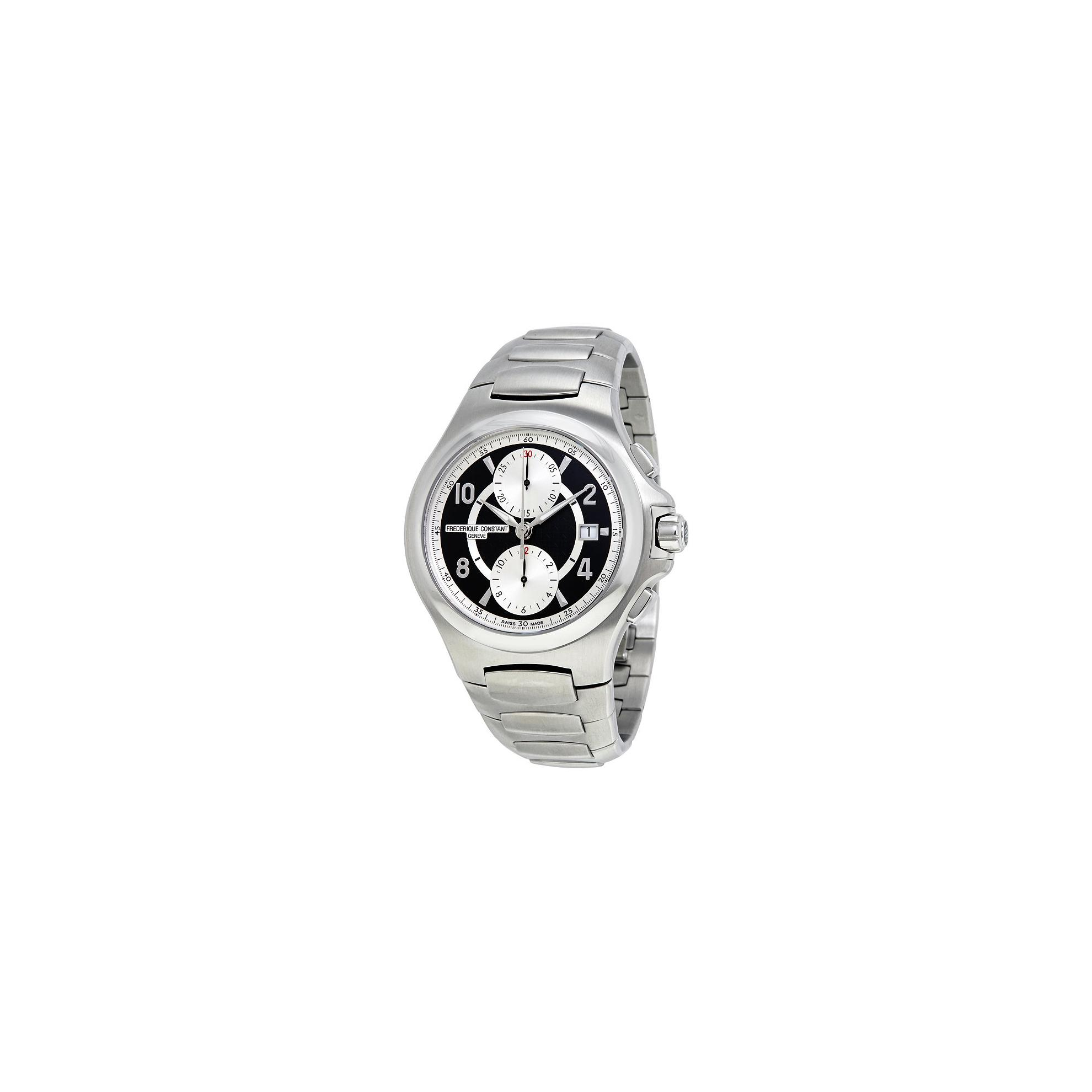 Frederique Constant FC-393ABS4NH6B Frederique Constant Automatic Black and Silver Dial Mens Watch