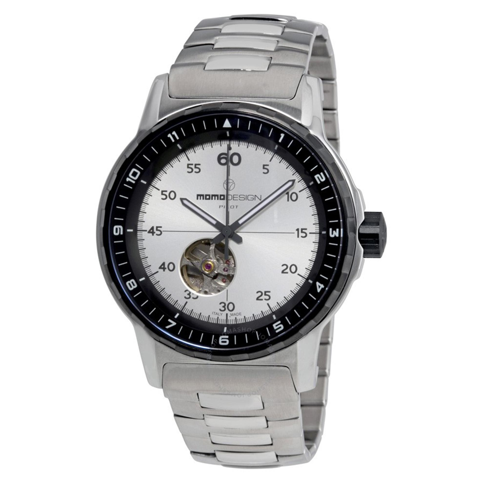MOMO Design 3064SB-40 Momo Design Pilot Heritage Automatic Heartbeat Stainless Steel Silver