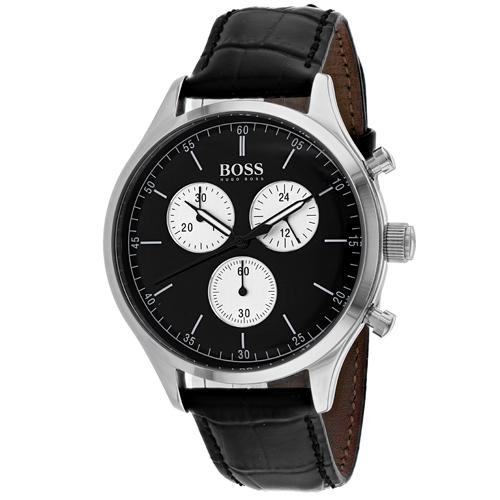 50dfbe162 Hugo Boss 1513543 Hugo Boss Mens Companion Black Band Black Dial
