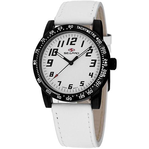 SP5213 Seapro  Womens Bold White Band White Dial