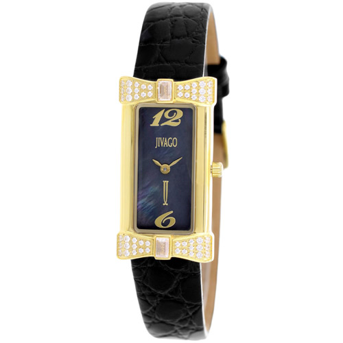 JV1415 Jivago Womens Charmante Black Band Black MOP Dial