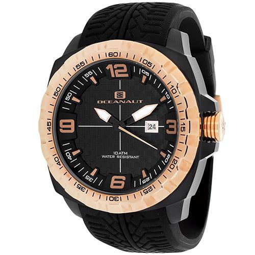 OC1111 Oceanaut Mens Racer Black Band Black Dial