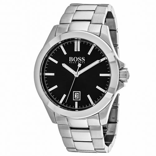1513300 Hugo boss Mens Essential Quartz Silver Band Black Dial