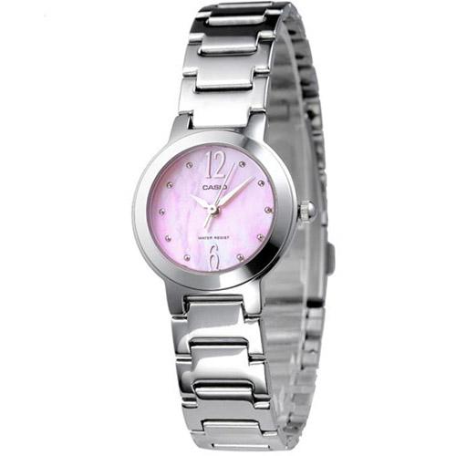 LTP-1191A-4A1 Casio Womens General Quartz Silver Band Pink Dial