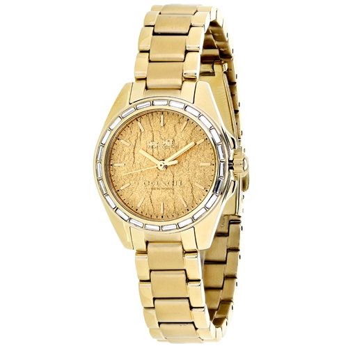 14502460 Coach Womens Casual Quartz Gold tone Band Gold tone Dial