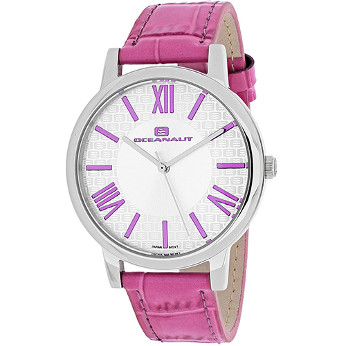 OC7210 Oceanaut Womens Moon Pink Band White Dial