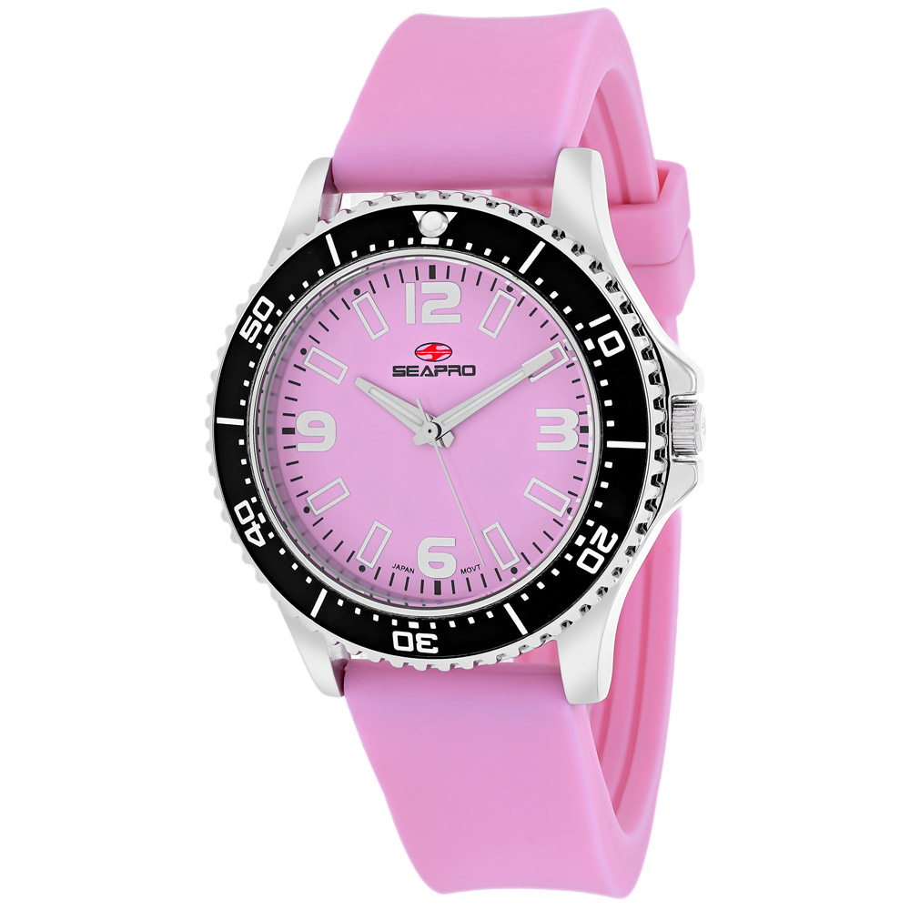 SP5416 Seapro Womens Tideway Pink Band Pink Dial