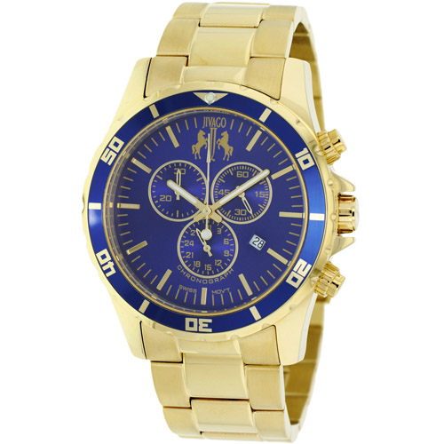 JV6125 Jivago Mens Ultimate Swiss  Quartz  Gold Band Blue Dial