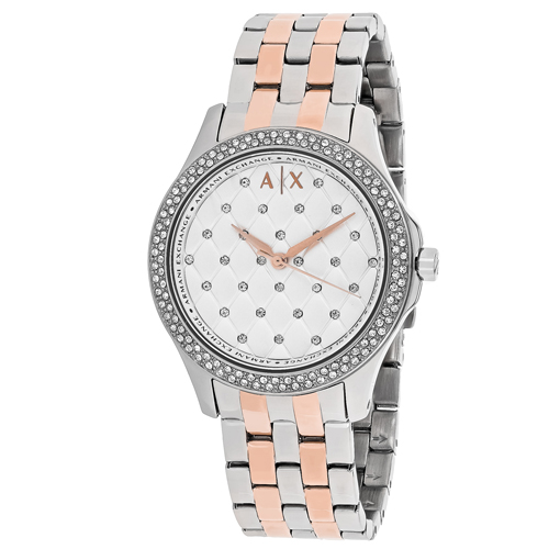 AX5249 Armani Exchange Womens Hampton AX5249 Two-tone Rose gold and silver tone  Band Silver Dial