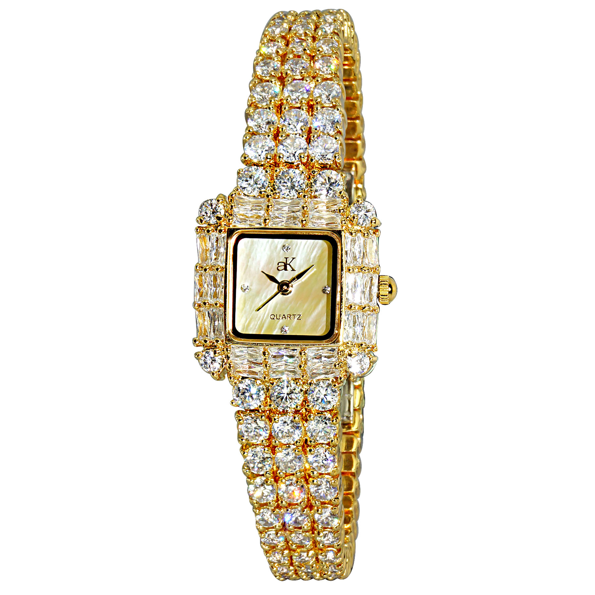Adee Kaye AK27-LG Adee Kaye Ladies Royal Collection Gold MOP Dial