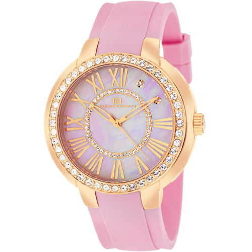 OC6416 Oceanaut Ladies Swiss Allure Pink Mother of Pearl Dial Pink Rubber Strap