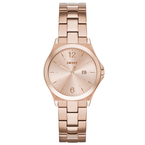 NY2367 DKNY Womens Parsons Rose Gold Band Rose gold Dial
