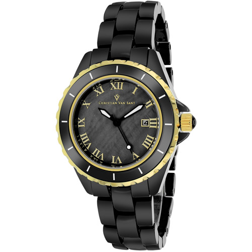 CV9415 Christian Van Sant Womens Palace Black Band Black MOP Dial