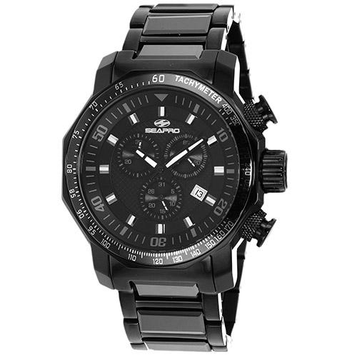 SP6120 Seapro Mens Coral Black Band Black Dial