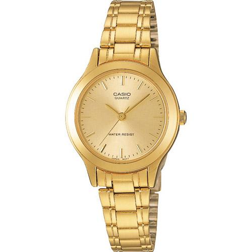 LTP-1128N-9A Casio Womens Classic Gold tone Band Gold tone Dial